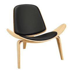 Modway - Arch Lounge Chair EEI-1050 - Oak Black - Some lines were made to be bent in this throw-back piece to the mid-50s. Arch is a deeply kinetic piece that propels both style and a sense of adventure into expanse-driven living and lounge areas. Constructed of molded wood with and ash veneer, the vinyl padded seat and back compliment this perfect piece to compliment a life on the move.