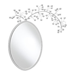 Vanessa Mirror - Wow, how can you not like this whimsical mirror? Stray Dog Designs always delights and surprises me. They always set their sights outside the proverbial box. It would be impossible to look into this mirror and not smile.