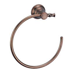 Danze - Danze D446427RBD Towel Ring Oil Rubbed Bronze - Danze D446427RBD Distressed Bronze Towel Ring is part of the South Sea Bath collection.  D446427RBD Easy to install, Towel Ring matches faucet collection.  Mounting hardware included.