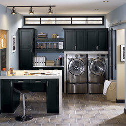 Laundry Room Cabinets in Black - Kitchen Craft Cabinetry -