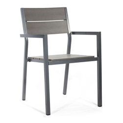 Zuo Modern - Zuo Modern Polestar Dining Chair in Gray [Set of 4] - Dining Chair in Gray belongs to Polestar Collection by Zuo Modern The Muni Bench has a sturdy epoxy coated aluminum frame and a slatted faux wood seat. Dining Chair (4)
