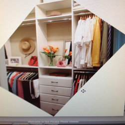 Janet's Master Closet - This closet was done for a Home Stager, so esthetics were just as important as function!