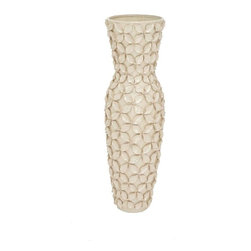 Benzara - Huangshan Decorative Ceramic Floor Vase - Huangshan Decorative Ceramic Floor Vase. Make your room corners and floors of your home look attractive. Some assembly may be required.