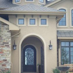 Omaha mediterranean flat roof exterior design ideas for Exterior remodel and design omaha