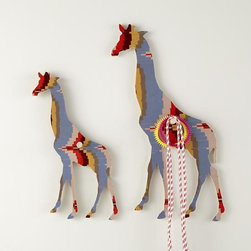 Flashy Forest Giraffe Wall Hook, Orange/Blue - These are perfect to hang your favorite necklaces and bracelets on, side by side in the bathroom, bedroom or closet.