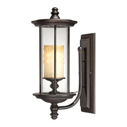 Savoy House - Savoy House 5-8711-213 Chestatee Wall Mount Lantern - Add some curb appeal with the Chestatee collection from Savoy House. These lanterns feature an English Bronze finish with a Cream Scavo glass candle that will add warmth and beauty to your home.