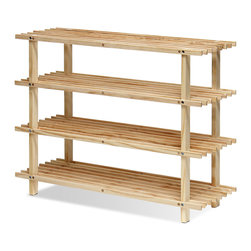 Furinno - Furinno FNCJ-33005 Pine Wood Shoe Rack - Furinno Pine Home Living Storage and Organization Series: Solid Pine Wood Shelf . (1) Unique Structure: Open display rack, shelves provide easy storage and display for decorative and home living accessories. Suitable for rooms needing vertical storage area. (2) Easy Assembly: with reference to the assembly instruction, this unit can be assembled in as short as 30 minutes. Designed to meet the demand of low cost but durable and efficient furniture. (3) Made from 100-Percent imported pine wood with high durability and without harsh chemicals. Thus there is no foul smell. Closer to healthy living and nature. A simple attitude towards lifestyle is reflected directly on the design of Furinno Furniture, creating a trend of simply nature. All the products are produced 100-percent in China . Care instructions: wipe clean with clean damp cloth. Avoid using harsh chemicals. Pictures are for illustration purpose. All decor items are not included in this offer.