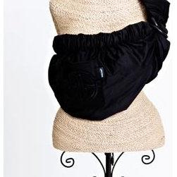 Balboa Baby - Adjustable Baby Sling in Signature Black with Embroidery - Adjustable Baby Sling in Signature Black with Embroidery