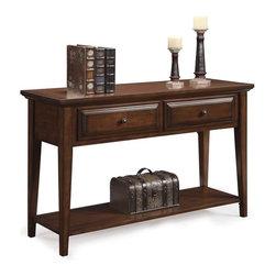 Riverside Furniture - Hilborne Rectangular Sofa Table - Two dovetail drawers