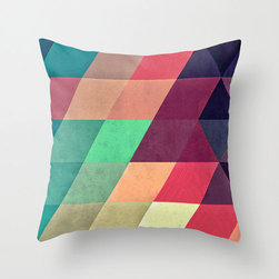 On Mute Pillow Cover - Zoom in on geometric patterns and muted colors with the On Mute Pillow Cover. Made of 100% polyester poplin, each double-sided pillow cover has been individually cut and sewn by hand. And with its concealed zipper closure the cover is easily removed while looking seamless from any angle.