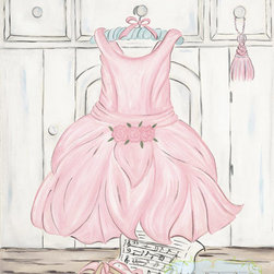 Ballerina Dress - Decorate your little Ballerina's room with this art.  This art is simply timeless enjoyed by  the young and the young at heart.