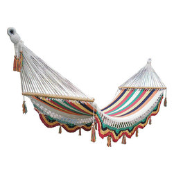 Rainbow Hammock by Veronica Colindres - While we are all used to seeing more color outdoors, nothing says summer like a brightly hued hammock. Set this up on your deck or between two trees and let the breeze take you away.