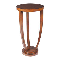 Butler Furniture - Tidewater Espresso Plant Stand - Two smaller discs joined to the largest top one by three beautifully bending legs imbue this Plant Stand with design distinction. Crafted from walnut and cherry veneer in a lustrous Antique Cherry finish.