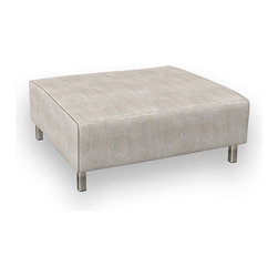 "Viesso - Nein Ottoman - 39"" x 39"" (Custom) - This ottoman goes with the Nein model, or could be used on its own. It has a simple and funtional design."
