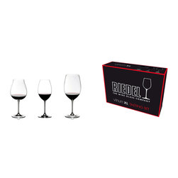 Riedel - Vinum XL Red Wine Tasting Set of 3 Glasss - Your rightfully proud of your wine collection, so now's the time to host a tasting. This set of amply sized stemware for your favorite reds will get you started in style.
