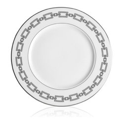 Eichholtz Oroa - Desert Plate Cable, Set of 4 - Premium bone china - Silver and grey finish