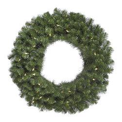 "Vickerman - Douglas Fir Wreath 240T 50WmWht LED (30"") - 30"" Douglas Fir Wreath , 240 PVC Tips and 50 Warm White Italian LED Lights"