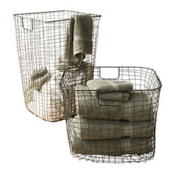 Design Ideas - Cabo Harvest Basket - Here's a fresh concept from the minds of our designers that has the appearance of time-tested authenticity. We hand weave wire to create this functional and nostalgic harvest basket. Finished in a rust-proofing lacquer and suitable for years of use.