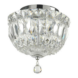 Crystal Basket Collection Polished Chrome Ceiling Mount - This ornate ceiling mount is a beautiful way to add shining detail to a special nursery or bedroom. Polished chrome and crystal come together in eye-catching detail. Why go for an ordinary overhead fixture?