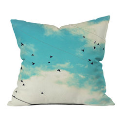 Shannon Clark Blue Skies Ahead Outdoor Throw Pillow - Do you hear that noise? it's your outdoor area begging for a facelift and what better way to turn up the chic than with our outdoor throw pillow collection? Made from water and mildew proof woven polyester, our indoor/outdoor throw pillow is the perfect way to add some vibrance and character to your boring outdoor furniture while giving the rain a run for its money.