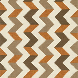 "Loloi Rugs - Loloi Rugs Palm Springs Collection - Brown / Orange, 7'-10"" x 7'-10"" Round - For the first time ever, world renowned designer Dann Foley brings his eye for great design and modern living to outdoorrugs. With patterns and colors as dynamic as Dann's persona, the Palm Springs Collection reflects Dann's passion forfun outdoor decorating. Palm Springs is hand hooked in China of 100% polypropylene that's specially treated to befade-resistant in spite of regular sunshine or rain."