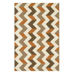 "Loloi Rugs - Loloi Rugs Palm Springs Collection - Brown / Orange, 7'-6"" x 9'-6"" - For the first time ever, world renowned designer Dann Foley brings his eye for great design and modern living to outdoorrugs. With patterns and colors as dynamic as Dann's persona, the Palm Springs Collection reflects Dann's passion forfun outdoor decorating. Palm Springs is hand hooked in China of 100% polypropylene that's specially treated to befade-resistant in spite of regular sunshine or rain."