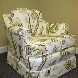 Custom Chair with Thibaut Fabric -