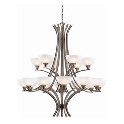 Triarch International - Triarch 29775-BS Luxor Antique Brushed Steel 18 Light Chandelier - Triarch 29775-BS Luxor Antique Brushed Steel 18 Light Chandelier