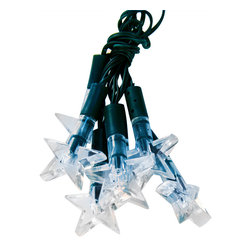 Pier Surplus - Blue-White Stars Solar LED String Lights - What a wonderful way to add subtle lighting to an evening relaxing on your patio... These are easy to hang above to cast a bluish, starry glow. Try lining a pathway during a special event or hanging them in prominent places at a wedding reception. Not only are they made from high-quality materials but they are durable, lasting you for years to come. Perfect as a housewarming or shower present.