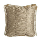 Isabella Collection by Kathy Fielder - Isabella Collection by Kathy Fielder Ruched European Sham with Fringe - Bed linens in a soothing palette of ivory and beige bring opulent style to your bedroom. Decorative pillows and fancy trimmings add to the luxe presentation. From Isabella Collection by Kathy Fielder. Dry clean. Collection is made in the USA of importe...