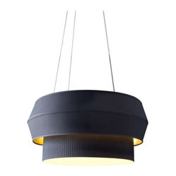 ecofirstart - Delta IV Chandelier - Make space-age sophistication your ceiling centerpiece. Inspired by rocket engines, designer Rich Brilliant Willing created this fascinating, box-pleated fixture to create a soaring statement for your favorite setting.