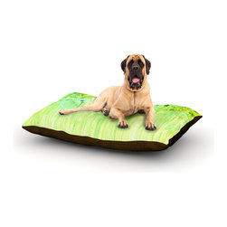 "Kess InHouse - Rosie Brown ""April Showers"" Lime Green Fleece Dog Bed (50"" x 60"") - Pets deserve to be as comfortable as their humans! These dog beds not only give your pet the utmost comfort with their fleece cozy top but they match your house and decor! Kess Inhouse gives your pet some style by adding vivaciously artistic work onto their favorite place to lay, their bed! What's the best part? These are totally machine washable, just unzip the cover and throw it in the washing machine!"