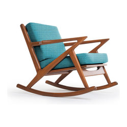 Furnishings - Kennedy Rocking Chair, Lucky Turquoise - This rocker ...