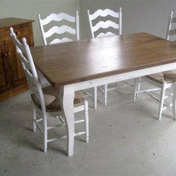 Reclaimed Chestnut Dining Table - Made by www.ecustomfinishes.com