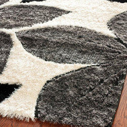 Safavieh - Shag Miami Shag 8'x10' Rectangle Black - Multi Color Area Rug - The Miami Shag area rug Collection offers an affordable assortment of Shag stylings. Miami Shag features a blend of natural Black - Multi Color color. Machine Made of Acrylic the Miami Shag Collection is an intriguing compliment to any decor.