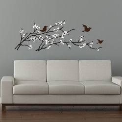 Birds & Blossoms Branch Decal