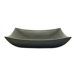 Eden Bath - Eden Bath S011BA-H Deep Zen Sink - Honed Black Basalt - The Deep Zen Sink in natural black basalt (volcanic rock) is a perfect balance between the ultra chic Zen sinks offered by Eden Bath and a practical rectangular shaped basin. This particular stone sink features a honed finish  which gives it a duller  more matted look than its polished counterparts. The deep Zen sink still provides a modern serene look with its clean lines and rising arches  while offering enough depth to be completely practical for a bathroom or powder room that is often used.