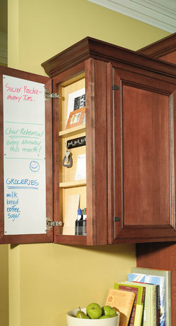 Wall Message Center Cabinet - Diamond Cabinetry -