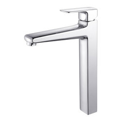 Kraus - Kraus C-GV-101-19mm-15500CH Clear 19mm thick Glass Vessel Sink and Virtus Faucet - Add a touch of elegance to your bathroom with a glass sink combo from Kraus