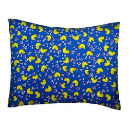 SheetWorld - SheetWorld Crib / Toddler Percale Baby Pillow Case - Duckies N Bubbles - Baby or Toddler pillow case. Made of an all cotton percale fabric. Opening is in the back center and is envelope style for a secure closure.