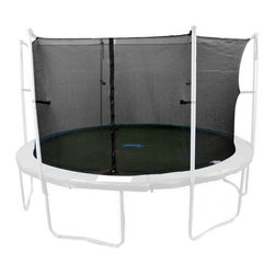 Upper Bounce - Upper Bounce 14 ft. Trampoline Enclosure Net - UBNET-14-4-IS - Shop for Trampoline Accessories from Hayneedle.com! Protect your child from injury with the Upper Bounce 14 ft. Trampoline Enclosure Net. With easy installation the net is attached between the jumping mat and the trampoline pad. It has two entry points with zippers and buckles which are located between two poles. The net neatly lies on the top of the arches and bars while at the bottom it connects to V rings with clips fencing-in the trampoline securely.