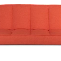 Flex Orange Sleeper Sofa - As a big color lover, I couldn't not love this bright orange sleeper from CB2.