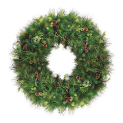 Silk Plants Direct - Silk Plants Direct Pine Cone, Pine and Twig Hinged Wreath (Pack of 1) - Pack of 1. Silk Plants Direct specializes in manufacturing, design and supply of the most life-like, premium quality artificial plants, trees, flowers, arrangements, topiaries and containers for home, office and commercial use. Our Pine Cone, Pine and Twig Hinged Wreath includes the following: