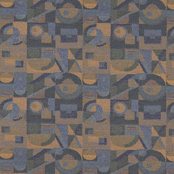 Dark Blue Gold Green Abstract Geometric Durable Upholstery Fabric By The Yard - P6935 is great for residential, commercial, automotive and hospitality applications. This contract grade fabric is Teflon coated for superior stain resistance, and is very easy to clean and maintain. This material is perfect for restaurants, offices, residential uses, and automotive upholstery.