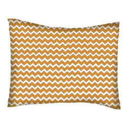 SheetWorld - SheetWorld Twin Pillow Case - Percale Pillow Case - Gold Chevron Zigzag - Pillow case is made of a durable all cotton percale material. Fits a standard twin size pillow. Features a Gold Chevron Zigzag print.