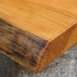 Live Edge Reclaimed Wood Countertops - Live Edge Countertop: Douglas Fir Telephone Pole