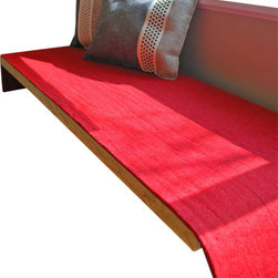The Felt Store - Felt Bench Cushion - Red, 60 x 18.5 x 0.20 Inch - Add a splash of colour to your decor, whilst providing some extra comfort with The Felt Store's Felt Bench Cushion! It is made from our 5mm Designer Felt, which is both durable and naturally stylish! The Felt Store's Designer Felt is crafted from pressed, carbonized 100% high grade wool. Designer felts are known for their durable, fabric-like finish. Vibrantly coloured and water repellent, this designer felt is perfect for your bench. Designer Felt density is between F1 and F5 grade industrial felts and weight is approximately 40oz. per square yard. It measures 18.5 inches x 60 inches(469.9mm x 1778mm).
