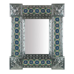 Natural Tin & Tile Mirror