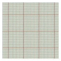 Aqua Small Houndstooth Woven Fabric - Traditional houndstooth plaid in beachy hues of seafoam, taupe & white.Recover your chair. Upholster a wall. Create a framed piece of art. Sew your own home accent. Whatever your decorating project, Loom's gorgeous, designer fabrics by the yard are up to the challenge!