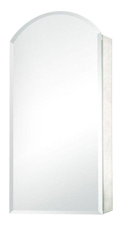 Pegasus - Pegasus 15 in. W Recessed or Surface Mount Mirrored Medicine Cabinet in Silver - 15 in. W Recessed or Surface Mount Mirrored Medicine Cabinet with Frameless Mirror in Silver